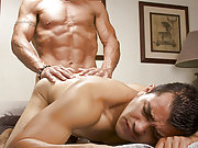 Mature gay dad fucks a young latin boy from behind