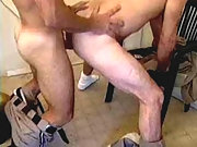 studs in uniform having sex