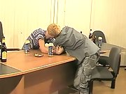 Ruslan and Dima are drinking when they start getting horny and fooling around