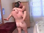 He fucks his friend anally and then licks him