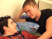 Twinks do yummy oral intercourse on the soft bed