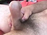 After playing with it his cock gets really hard