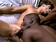 Interracial Gays in a nasty threesome fuck