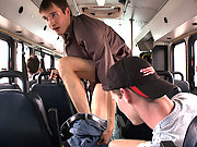 Twinks decided to fuck right in the public bus