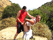 Well horny gay lovers ass fucking in the bushes