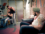 Muscle men Paddy O'Brian, Dato Foland and Rogan