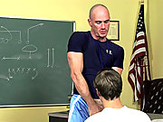 The coach dominate his student with his meaty cock!