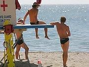Amateur straight and gay guys on the nice beach