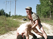 Trevor Knight fucks a recruit in the sunny outdoor