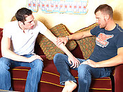 Magnificent married studs flirting their way tosex