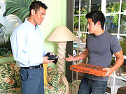 Pizza delivery boy Cody fucked by Alexander Garret