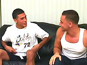 Two straight boys jerk off together
