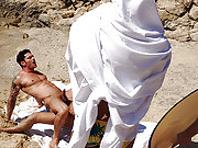 Two muscle gay porn men have a vacation in Mykonos