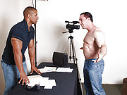 Interracial muscle gay couple suck and ass fuck