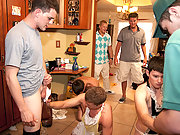 Frat boys had to lick their brothers balls clean