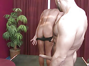 Older client fucks a young stripteaser in the club