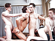 Lucas gay porn stars have a wild bareback orgy