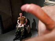 Two horny soldiers suck and fuck in the barrack