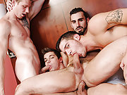 The young gay pornstar Johhny Rapid hardcore orgy