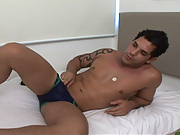 Last month you got to see Junior flip Marcus P. This time you get to see him doing a solo, with a nice big dildo chucked in for good measure. I love his anal play...Doesn't he have a hot fuckable ass! Enjoy.