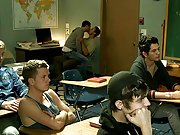 Gay teacher fucks a guy while boys watch the movie