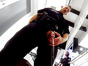 Dirty gay cops piss and fuck at the police station
