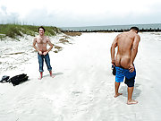 A boy gets ass screwed by two horny in the dunes