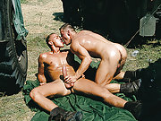 Military gay jocks fuck hard in the sunny outdoor