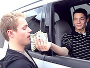 Broke American boy paid cash for his tight ass