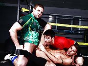 Jock men enjoy fucking each other in the ring