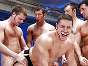 Marc Dylan takes 7 huge cocks up the muscle ass