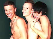 Three young twinks partaking into some hot sexual magic!