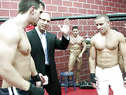 Two jocks fight and have a wild orgy in the ring