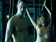 Alexander Skarsgard shows some ass after fucking a chained slut in the basement
