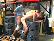 Misbehaving twink employees getting ass banged