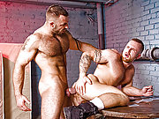 Hairy and muscle Ben Brown and Bruno Knight fuck