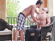 Spencer Fox seduces a muscle stud and rides cock