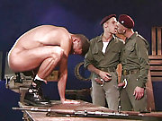 Military gay men forced to anal fuck another one