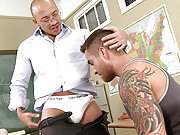Latino teacher drills his horny pupil in the class