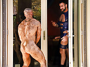 Francois Sagat with Shay Michaels and Spencer Reed