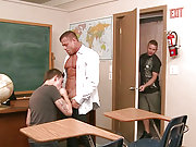 Two pupils getting fucked hard by an older teacher