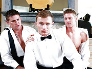 Married man gets ass fucked by two horny friends