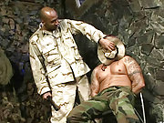 The angry commander forced to anal fuck a soldier