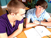 Two studying twinks flirts their way to sexual fun