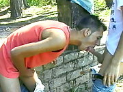 Amazing amateur gay paulo licking and fucking Luiz`s sexy ass outdoors