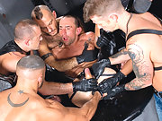 Matthieu Paris gets fisted deep by a group of hungry buddies
