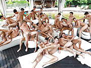 A bunch of Belamis gay studs have a wild orgy