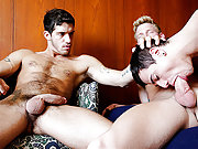 Levi Karter in a threeway hardcore gay action