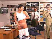 Two older office players fucking their employee