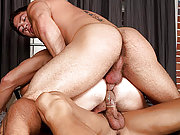 The Randy Blue hunk gets anal double penetrated